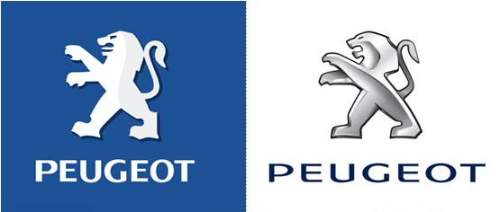 redesigned logo - peugeot