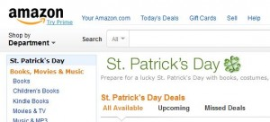 Amazon displaying four leaf clover instead of three leaf shamrock on St Patrick's Day