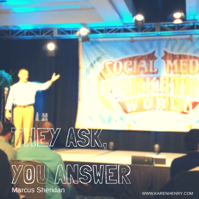 Marcus Sheridan at Social Media Marketing World