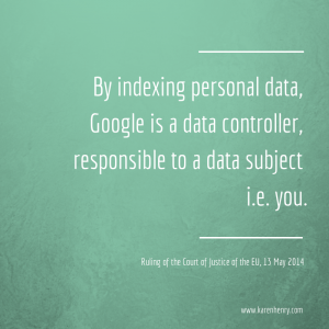 CJEU rules that Google is a data controller